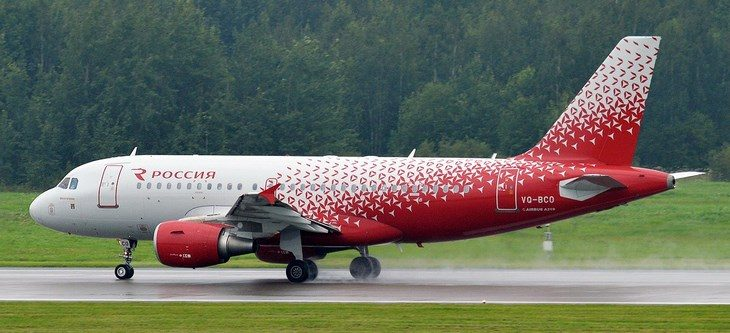 Airbus A319-100 в ливрее авиакомпании Россия