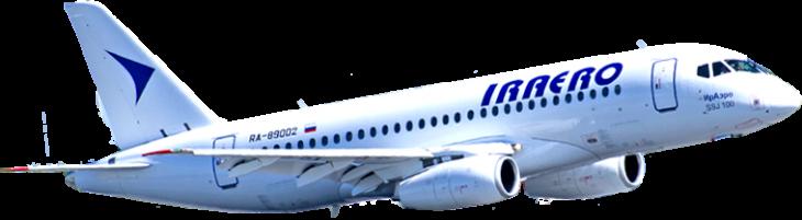 Самолет SSJ 100 авиакомпании Ираэро