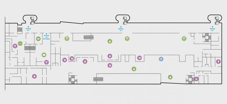 Схема 2 этажа терминала
