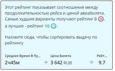 Рейтинг перелетов