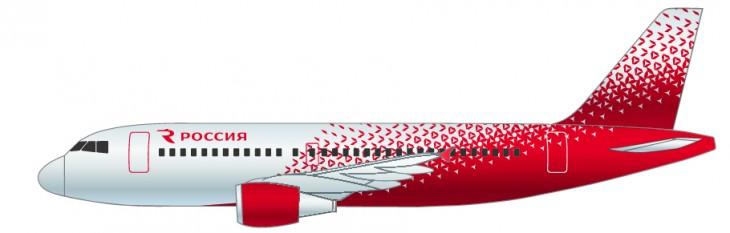 Самолета Аэробус А319 авиакомпании Россия