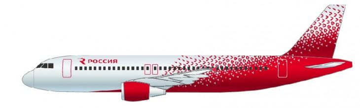 Самолет Аэробус А320 авиакомпании Россия