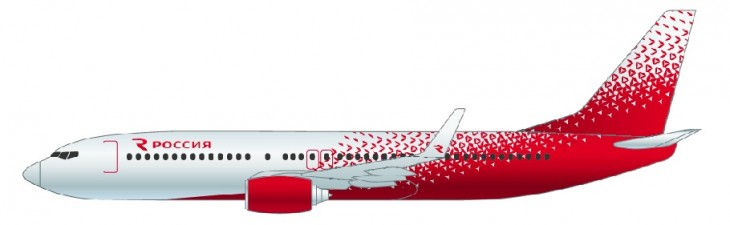 Самолет Боинг 737-800 авиакомпании Россия