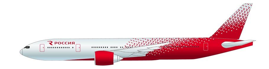 Самолет Боинг 777-200ER авиакомпании Россия