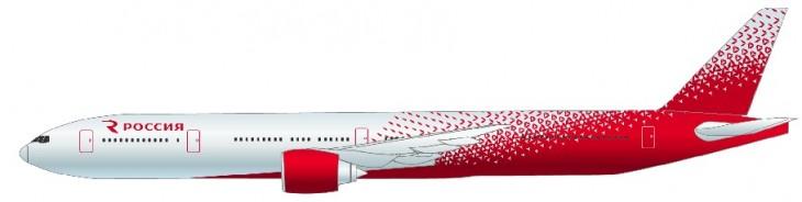 Самолет Боинг 777-300 авиакомпании Россия