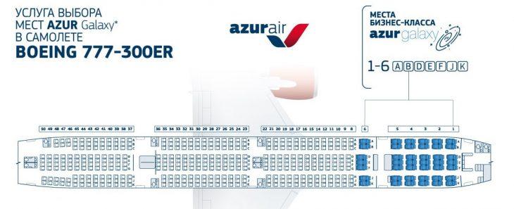 Схема мест бизнес-класса в салоне Боинг 777-300ER