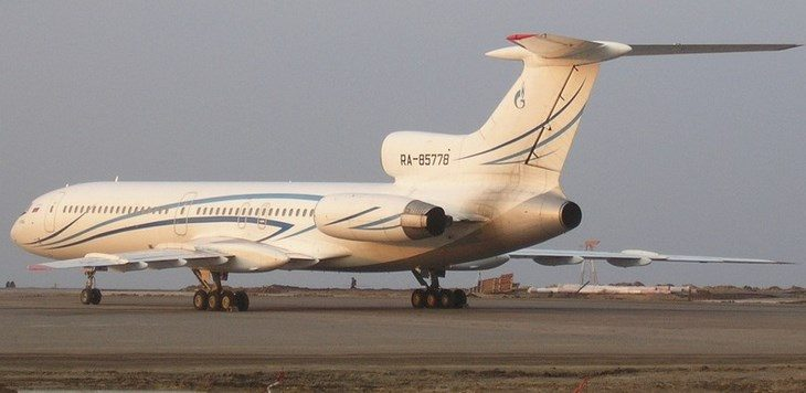 Самолет Ту 154М Газпромавиа