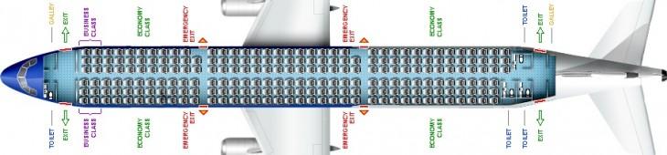Схема салона самолета Аэробус А321 Эйр Молдова