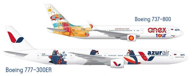 Боинг 777-300ER и Боинг 737-800