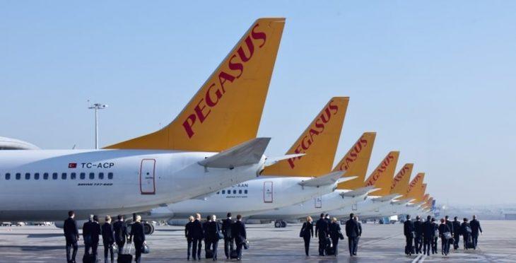 Парад самолетов авиакомпании Пегасус