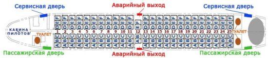 Схема салона Боинг 737 300