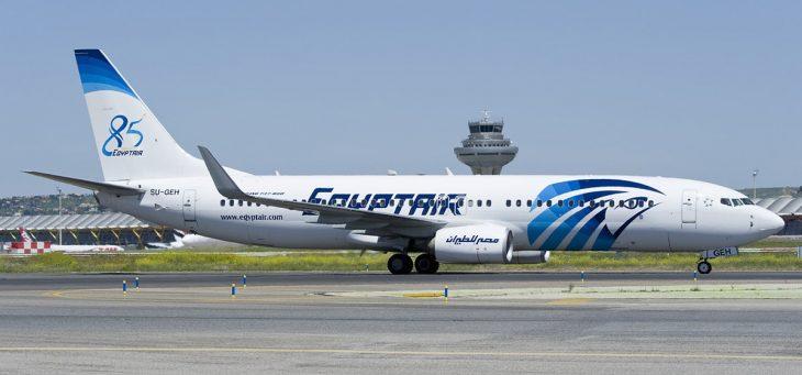 Боинг 737 в обычной ливрее Египетских Авиалиний