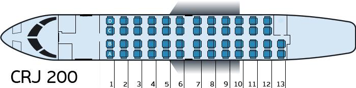 Схема мест в салоне
