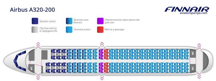 Схема салона самолета Аэробус А320