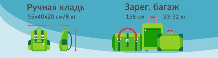 Нормы провоза багажа на рейсах ТАП Португал